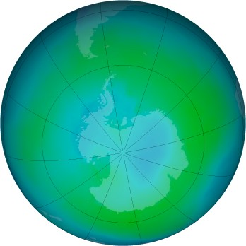 Antarctic ozone map for 1997-02